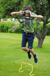 Blindfold jump